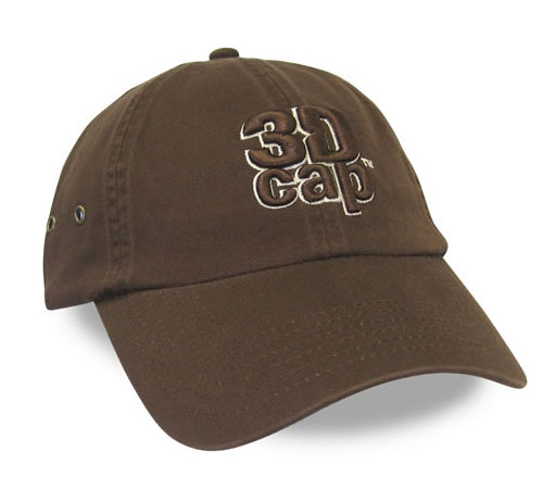 3dcap brown custom cap