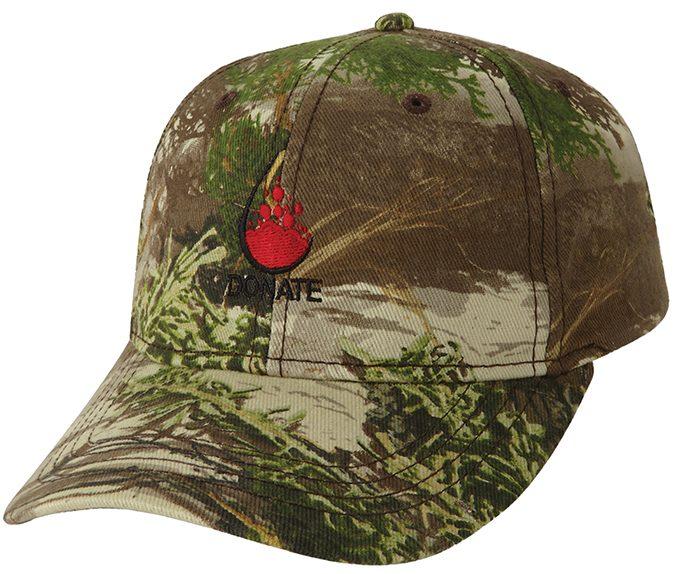Donate Blood Custom Cap Camo Hat