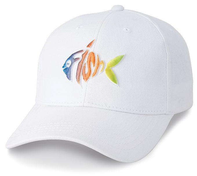 Fish Custom Cap White