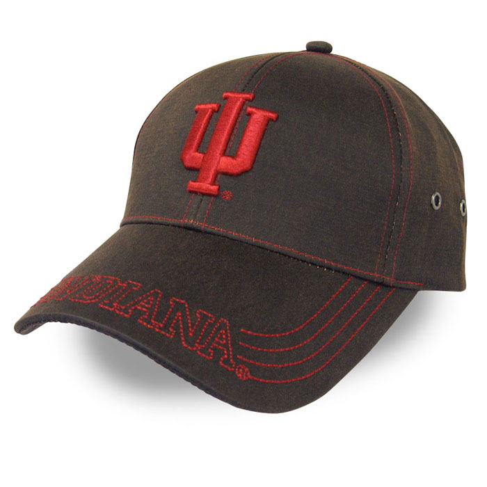 Indiana University Custom Cap Brown