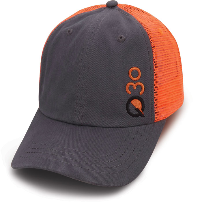 Custom Quick Hat Orange Black Mesh