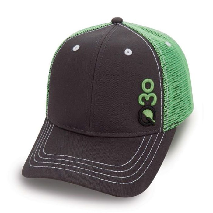 Quick Custom Black Green Hat