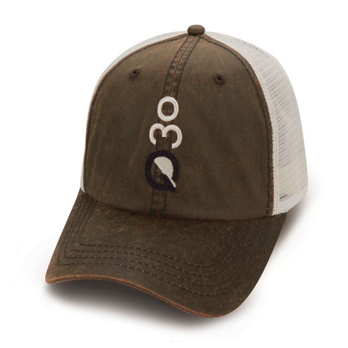 Quick Custom Brown White Hat