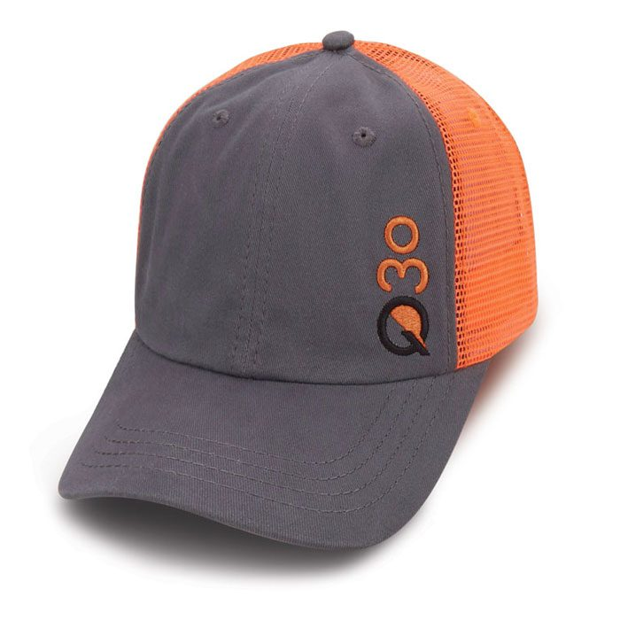 Quick Custom Gray Orange mesh hat