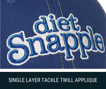 single layer tackle twill applique image