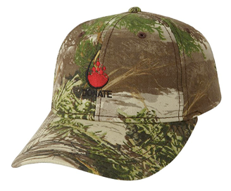 Custom Embroidered Camo Six Panel Cap 3D-1075