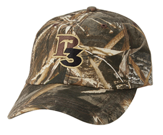 Custom Embroidered Camo Six Panel Cap 3D-1076